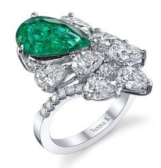 Vanna K Emerald ring, its just beautiful.