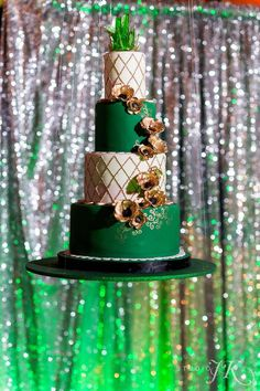Green and gold wedding cake. Wizard of Oz themed cake. Wizard Of Oz, Custom Cakes, Themed Cakes, Green And Gold, Bird Feeders, Gold Wedding, Denver, Special Events, Colorado