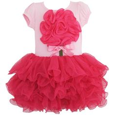 Sunboree BH75 Girls Dress Tutu Tull Hot Pink Dancing Party Kids... ❤ liked on Polyvore featuring baby, baby stuff, kids clothes, baby clothes and baby/kids clothes