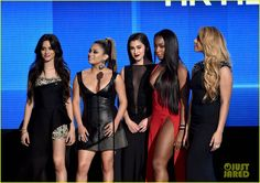 Fifth Harmony Slay AMAs 2015 Red Carpet!: Photo #897909. Fifth Harmony totally look in harmony with their outfits while attending the 2015 American Music Awards held at Microsoft Theater on Sunday (November 22) in Los…