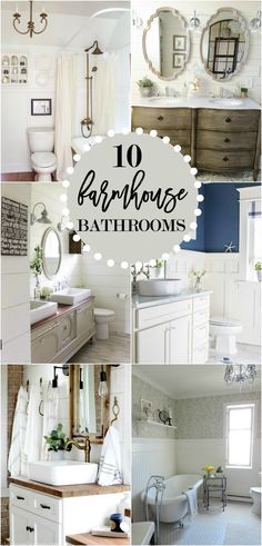 10 Gorgeous Farmhouse Bathroom Renovations - Home Stories A to Z