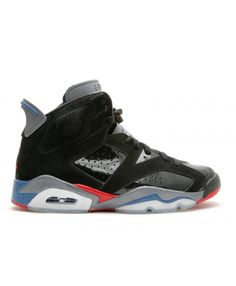 cfa596ae6a39 Air Jordan 6 Retro Piston Black Varsity Red True Blue Light Graphite 384664  001
