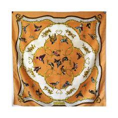 b142ab270894 seta, écharpe, tuch, scarf, Foulard Carré en Soie, pas cher, sjaal, scarpa,  seidentuch, seda, hermès, la clé des champs