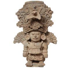 Pre Columbian Zapotec Figural Incensario Urn c 800 AD Mayan History, Hispanic Art, Maya Civilization, Masks Art, Mesoamerican, Pottery Sculpture, Indigenous Art, Mexican Art, Ancient Art