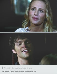 Day 14: A scene that made you happy: When Sam gets to see his mom and hear her voice for the first time. Heart breaking, but also brought a smile to my face. Because he definitely deserved it.