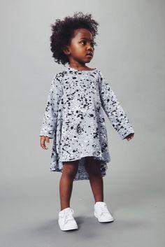 Modern and artistic kids fashion - Splatter Dress on DLK