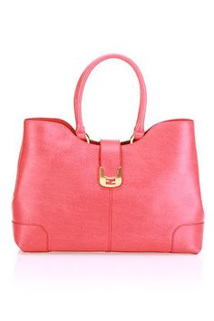 Fendi Silvana 2 Handbag In Strawberry  amp  Gold Cute Purses 39bfe992f214a