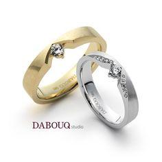 Dabouq Studio Couple Ring - DR0001 - Simple+