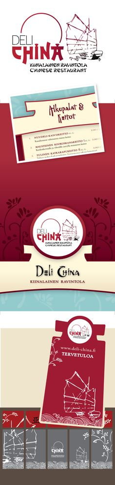 Deli China Yritysilmeen facelift (mm. logon facelift, menu, standit, ikkunateippaukset),  verkkopalvelu. www.deli-china.fi