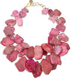 Nest Chunky Light Pink Jasper Necklace
