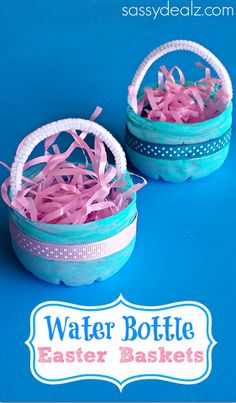 Plastic Water Bottle Easter Basket Craft for Kids #DIY #Upcycle | CraftyMorning.com