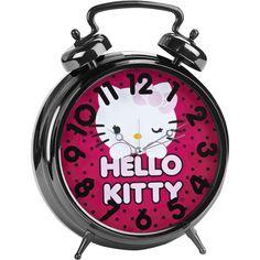 alarm clocks at walmart | Hello Kitty Jumbo Twin Bell Alarm Clock in Pink  with Polka