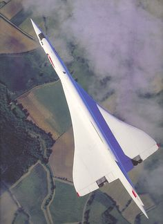 British Airways Aérospatiale-BAC Concorde in flight over the English countryside. (Photo: Braniff Flying Colors Collection)