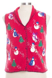 Red Ugly Christmas Vest 28334