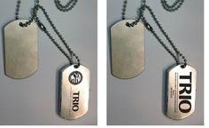 Dog Tag Style USB Drive – Western North East Community College, #TRIO Veterans Upward Bound