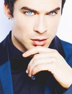 Ian Somerhalder. Those eyes are dangerous...they could probably burn a hole through something.