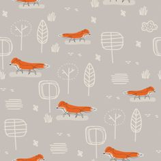 print & pattern: January 2016 Fox Pattern, Pattern Art, Pattern Paper, Textile Patterns, Textile Design, Textiles, Kids Patterns, Print Patterns, Toddler Drawing