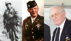 Major Winters during World War II, and in 2004