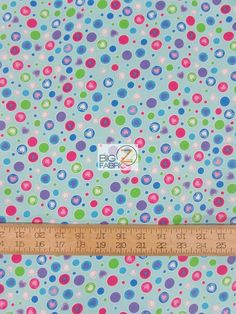 "Heart Dots Turquoise By Fabri-Quilt Inc. Flannel Fabric - 44"" Width Sold By The Yard FH-88"