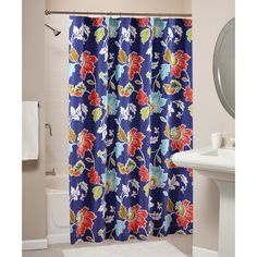 Greenland Home Fashions Phoebe Midnight Shower Curtain