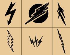 Kinds of lightning bolt tattoo designs