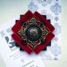 """Купить Брошь-орден """" Цветок"""" - малиновый, бордовый, красный, украшения ручной работы"""