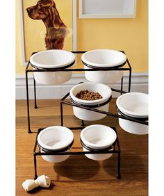 just ordered these handsome (but ridiculously expensive) bowls for our beast . . . maybe now he won't make such a mess!