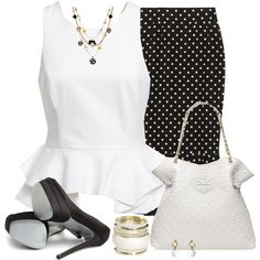 """""""Dotted Skirt"""" by daiscat on Polyvore"""