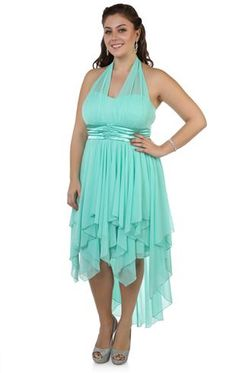 Strapless Plus Size Short Prom Dress With Two Tone High Low Tulle ...