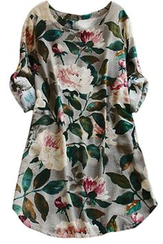 Cupshe Fashion Women's Floral Printing Casual Dress (M)