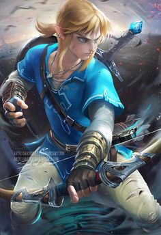 Pixiv llfacebook llOnline Store ll Tumblr ll PatreonllArtstationlInstagram gumroad(tutorial store) I wanted to paint something form Breath of the wild, the new game from the ze...