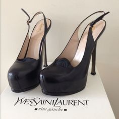 Authentic Ysl Slingback Shoes