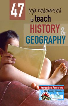 To view later---Need history and geography resource and curriculum ideas? This comprehensive list compiled by a homeschool mom of four kids has a little bit of everything. History Books For Kids, Study History, History Teachers, History Education, History Class, 6th Grade Social Studies, Teaching Social Studies, Student Teaching, Teaching Resources
