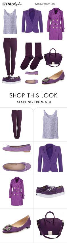 """Purple Fun Outfit"" by kristen-gregory-sexy-sports-babe ❤ liked on Polyvore featuring Pieces, Uniqlo, Paolo Simonini, MaxMara, FAY, Vans, Manolo Blahnik, Givenchy and Hansel from Basel"