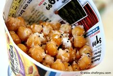 Fried Coconut-Spice Chickpeas (street food in India)