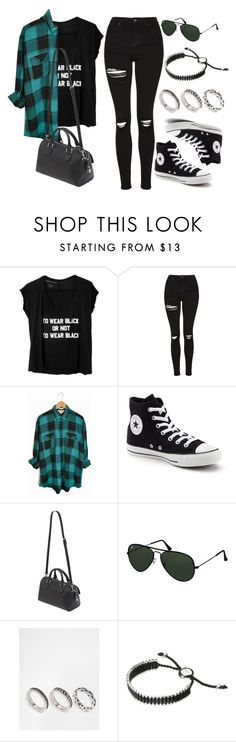 """Style #10192"" by vany-alvarado ❤ liked on Polyvore featuring Topshop, Converse, Mulberry, Ray-Ban, ASOS and Links of London"