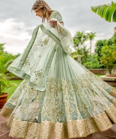 """perniaspopupshop: """" PRINCES DIARIES - A royal new collection by featuring subtle pastel shades with a contrasting gold embroidery. Indian Dresses, Indian Outfits, Indian Clothes, Pakistani Clothing, Pop Up, Big Indian Wedding, Indian Bridal, Wedding Lehenga Designs, Wedding Attire"""