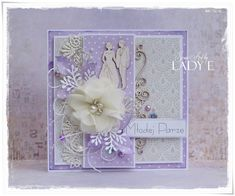 Scrap Art by Lady E: Wedding Card / Kartka Ślubna Scrapiniec DT