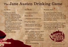 THIS IS A JANE AUSTEN DRINKING GAME. ALL FRIENDS, PREPARE YOURSELVES. THIS IS HAPPENING. IT WILL BE CLASSY AS HELL.