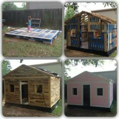 Playhouse made out of pallets
