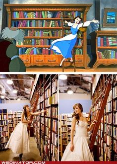 Funny wedding picture: Beauty & the Beast    http://wedinator.files.wordpress.com/2012/03/funny-wedding-photos-beauty-and-the-beast-belle-bride.jpg