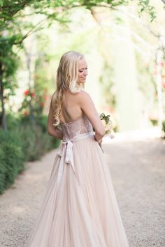 Blush Wedding Dress;
