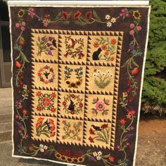 Folk Art Album, customer quilt. August 2015