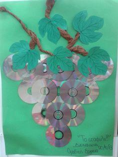 F.M Birthday Charts, Old Cds, Cd Art, Flora, Crochet Necklace, Fruit, Fall, Crafts, Classroom