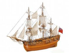 The Artesania Latina HMS Endeavour 1768 Wooden Ship Model in 1/35 scale from the wooden ship model kits range accurately recreates the real life vessel in fine detail. This kit is ideal for model builders of Intermediate skill.