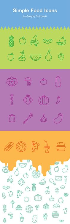 https://www.behance.net/gallery/20053641/Simple-Food-Icons