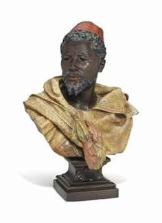 A COLD-PAINTED SPELTER MODEL OF OTHELLO CAST AFTER A MODEL BY GASTON VEUVENOT LEROUX (1854-1942), LATE 19TH CENTURY