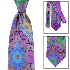 Watercolor style, in this ERMENEGILDO ZEGNA Quindici Limited Edition Geometric No. 120 Silk Tie!  |  Have at it! http://www.frieschskys.com/neckwear/ties  |  #instastyle #mensfashion #mensstyle #menswear #dapper #stylish #MadeInItaly #Italy #couture #highfashion