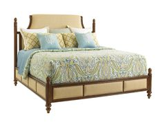 Shop this tommy bahama bali hai orchid bay upholstered king panel bed from our top selling Tommy Bahama beds. LuxeDecor is your premier online showroom for bedroom furniture and high-end home decor. Queen Size Platform Bed, Bed With Posts, Lexington Home, Upholstered Platform Bed, Adjustable Beds, Headboard And Footboard, Panel Bed, Cool Beds, Bed Sizes