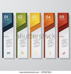 Illustration of Design clean number banners template/graphic or website layout. vector art, clipart and stock vectors. Wayfinding Signage, Signage Design, Web Design, Layout Design, Vector Design, Rollup Design, Mises En Page Design Graphique, Schrift Design, Infographic Powerpoint